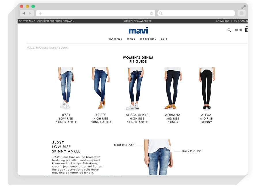 Mavi Jeans Website