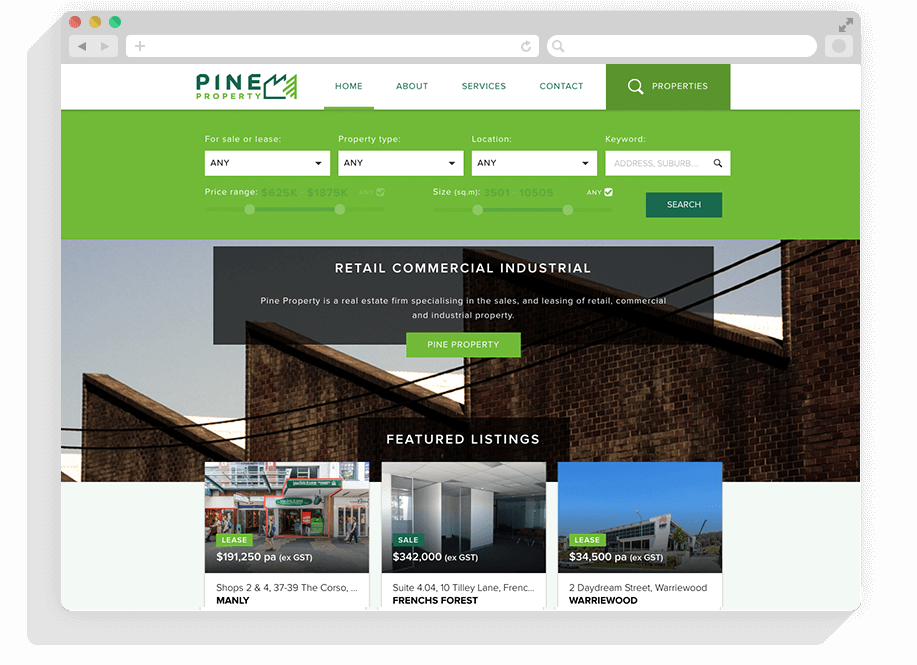 Pine Property Website